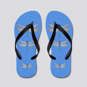 dragonflies on blue Flip Flops