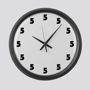 Five O'Clock Large Wall Clock