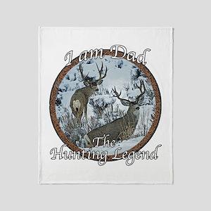 Dad hunting legend Throw Blanket
