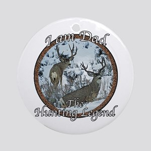 Dad hunting legend Ornament (Round)