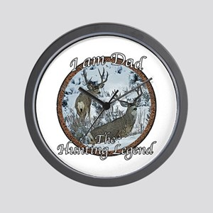 Dad hunting legend Wall Clock