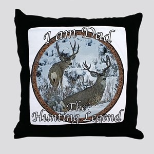 Dad hunting legend Throw Pillow