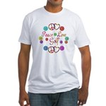 Peace Love Golf Fitted T-Shirt
