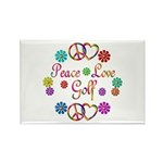 Peace Love Golf Rectangle Magnet (100 pack)