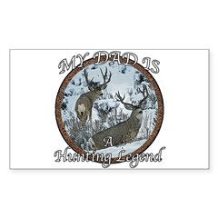 Dad the hunting legend Sticker (Rectangle)