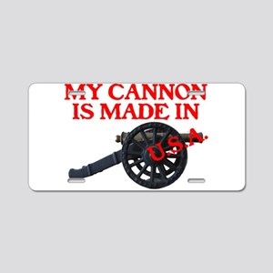 MY CANNON IS MADE IN U.S.A.™ Aluminum License Plat
