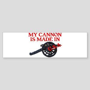 MY CANNON IS MADE IN U.S.A.™ Sticker (Bumper)