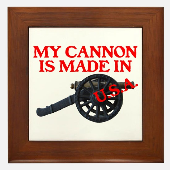 MY CANNON IS MADE IN U.S.A.™ Framed Tile