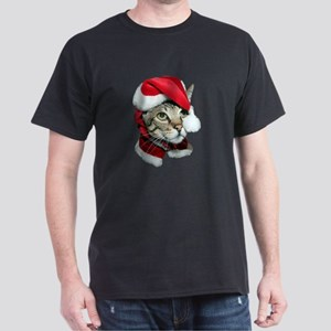 Cute Santa Cat Dark T-Shirt