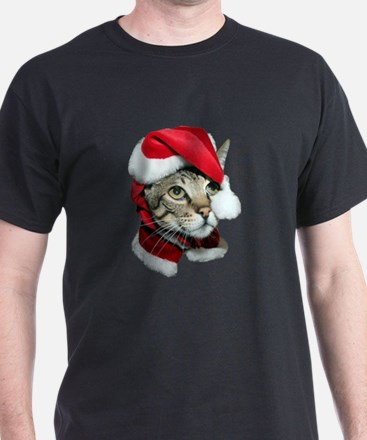 Cute Santa Cat T-Shirt