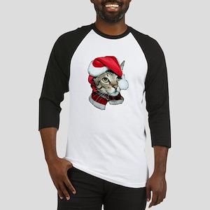 Cute Santa Cat Baseball Jersey