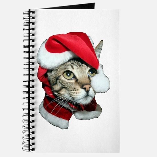 Cute Santa Cat Journal