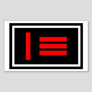Master/slave Pride Flag Rectangle Sticker