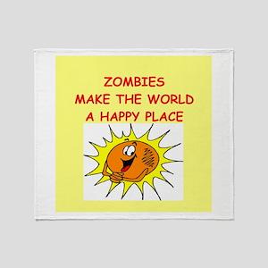 Zombies Throw Blanket