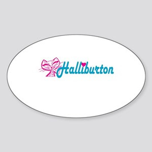 HALLIBURTON LOVE Oval Sticker