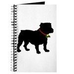 Christmas or Holiday Bulldog Silhouette Journal
