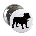 Christmas or Holiday Bulldog Silhouette 2.25