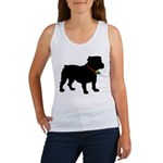 Christmas or Holiday Bulldog Silhouette Women's Ta