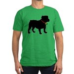 Christmas or Holiday Bulldog Silhouette Men's Fitt