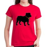 Christmas or Holiday Bulldog Silhouette Women's Da