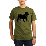 Christmas or Holiday Bulldog Silhouette Organic Me