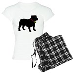 Christmas or Holiday Bulldog Silhouette Women's Li