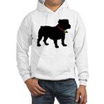 Christmas or Holiday Bulldog Silhouette Hooded Swe