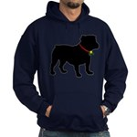 Christmas or Holiday Bulldog Silhouette Hoodie (da
