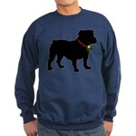 Christmas or Holiday Bulldog Silhouette Sweatshirt