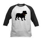 Christmas or Holiday Bulldog Silhouette Kids Baseb