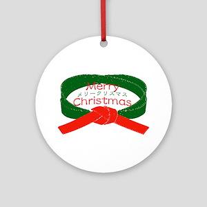 """Karate Christmas"" Ornament (Round)"