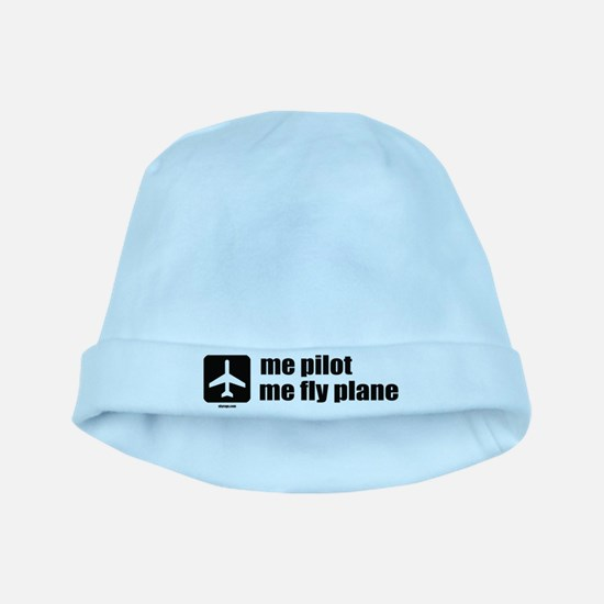 Me Pilot, Me Fly Plane baby hat