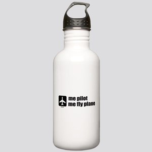 Me Pilot, Me Fly Plane Stainless Water Bottle 1.0L