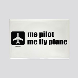 Me Pilot, Me Fly Plane Rectangle Magnet