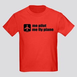 Me Pilot, Me Fly Plane Kids Dark T-Shirt