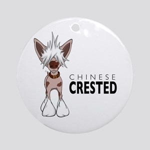 Chinese Crested Ornament (Round)