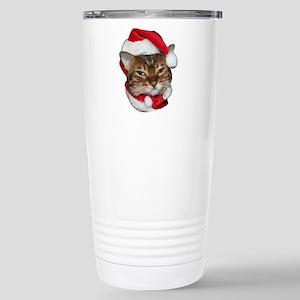 Santa Bengal Cat Stainless Steel Travel Mug