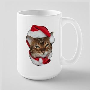 Santa Bengal Cat Large Mug