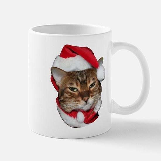 Santa Bengal Cat Mug