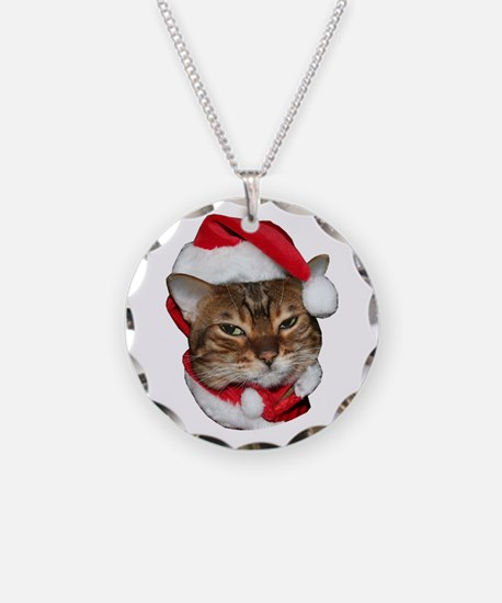 Santa Bengal Cat Necklace
