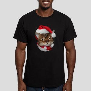 Santa Bengal Cat Men's Fitted T-Shirt (dark)