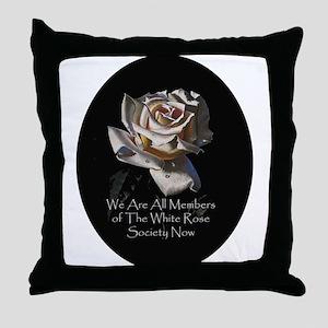 THE WHITE ROSE SOCIETY Throw Pillow