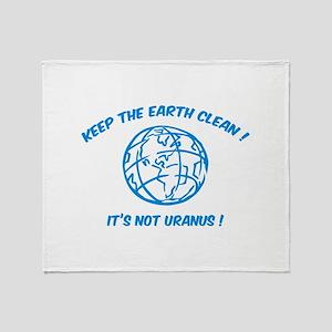 Keep the earth clean ! Throw Blanket