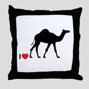 I love Camel Toe Throw Pillow