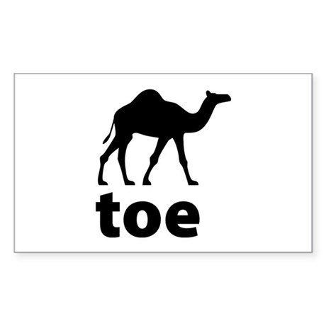 I love Camel Toe Sticker (Rectangle)