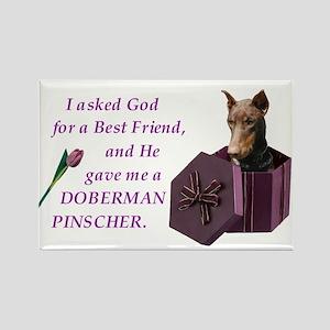 God Gave Me A Doberman (Rust, Cropped) Rectangle M