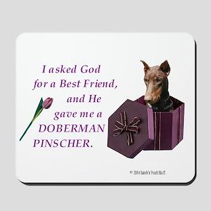 God Gave Me A Doberman (Rust, Cropped) Mousepad