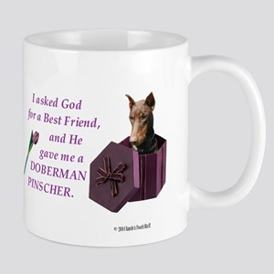 God Gave Me A Doberman (Rust, Cropped) Mug
