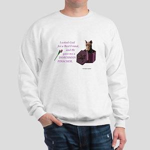 God Gave Me A Doberman (Rust, Cropped) Sweatshirt