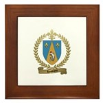 LOUVIERE Family Crest Framed Tile